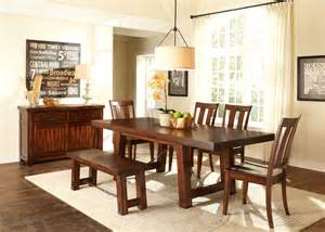 liberty tahoe trestle table dining room set 555 furniture