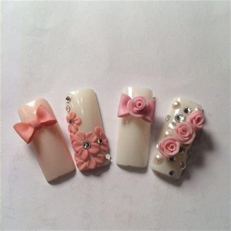 imagenes de uñas acrilicas con flores 3d las 25 mejores ideas sobre u 241 as 3d en pinterest dise 241 os