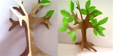 How To Make Paper And Craft - how to make an easy paper craft tree imagine forest
