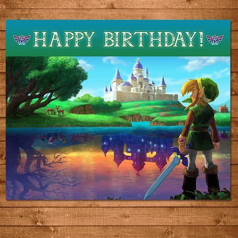 Link Birthday Card Legend Of Zelda Happy Birthday Sign Link Zelda Birthday