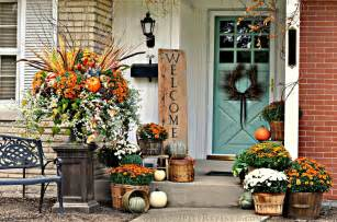 Decorative Outside Flags 30 Fall Porch Decorating Ideas Ways To Decorate Your