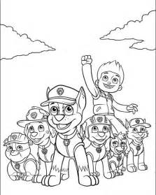 paw patrol coloring free coloring pages of the paw patrol team
