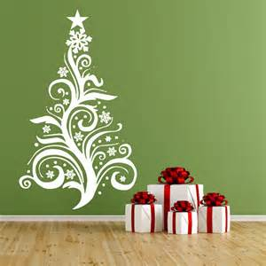 Christmas Tree Wall Stickers Christmas Tree Vinyl Wall Decal Christmas Decorations By