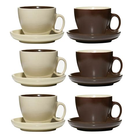tea and coffee mugs set of 6 chocolate cream tea coffee drinks mugs cup