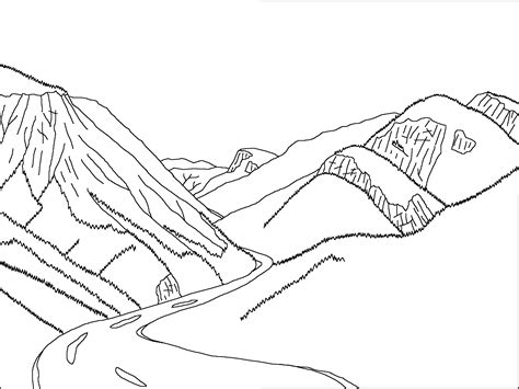 Of The Valley Coloring Page yosemite valley california during uplift of the nevada