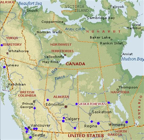 map of canada west faslink around the world