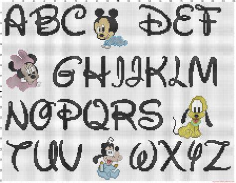 lettere alfabeto disney alfabeto disney a punto croce baby topolino minnie e