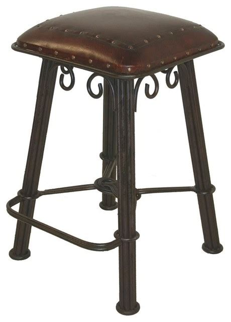 wrought iron stools counter height western counter stool in serpentine wrought iron bar
