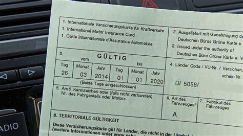 Autoversicherung Italien by Versicherungsdeckung Im Ausland Die Gr 252 Ne Versicherungskarte