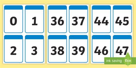 printable 3 digit number cards number cards to 50 numeracy digit card math number