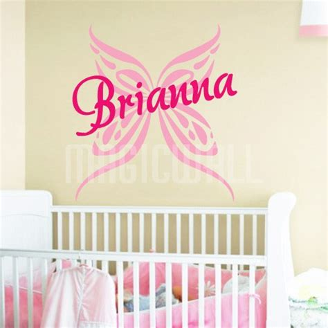 personalized name wall stickers wall stickers butterfly personalized name wall decals canada