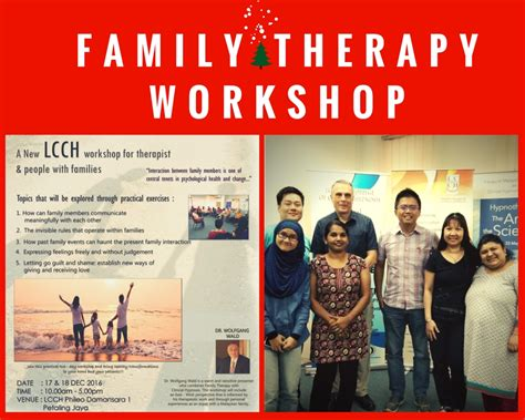 therapy workshops family therapy workshop with dr wolfgang wald lcch asia