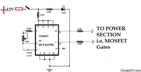 mosfet transistor oscillator gt circuits gt cd4047 based squarewave inverter oscillator l23835 next gr