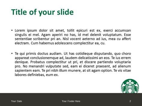 Starbucks Powerpoint Template Presentationgo Com Starbucks Powerpoint Template