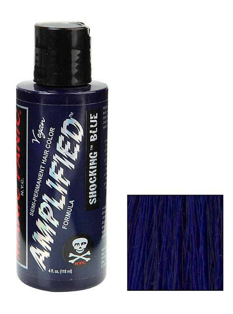 manic panic ultra violet hair dye hot topic manic panic amplified semi permanent shocking blue hair