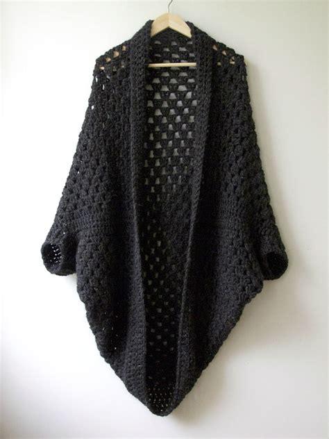 Drape Wrap Around Sweater Granny Cocoon Shrug Maria Valles