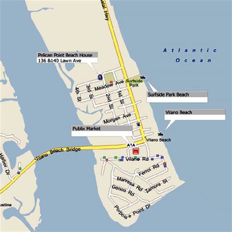 Vacation Rental House Plans maps around vilano and st augustine