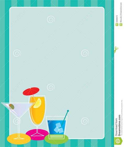 martini clipart no cocktail border royalty free stock image image 20888076