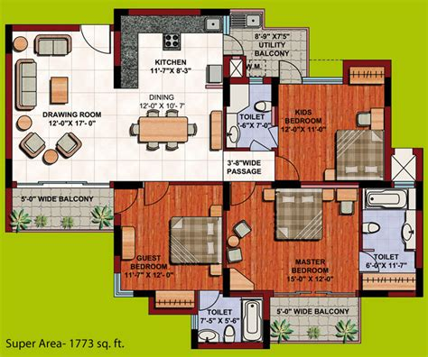 the oc house floor plan floor plan orange county indirapuram ghaziabad sixsense realtors pvt ltd 2 3 4 bhk