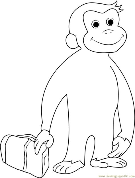 curious george going coloring page free curious george