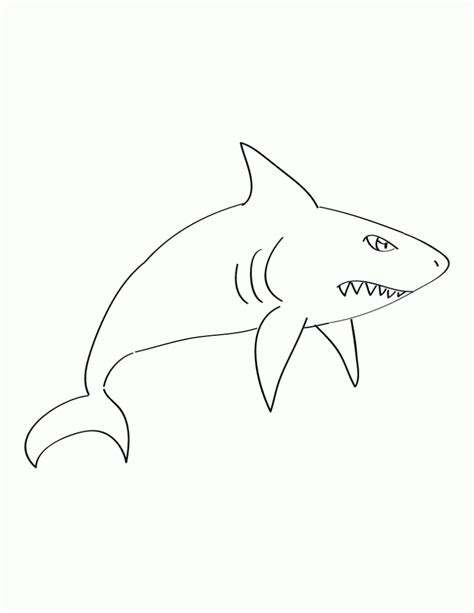 free coloring pages of cow shark