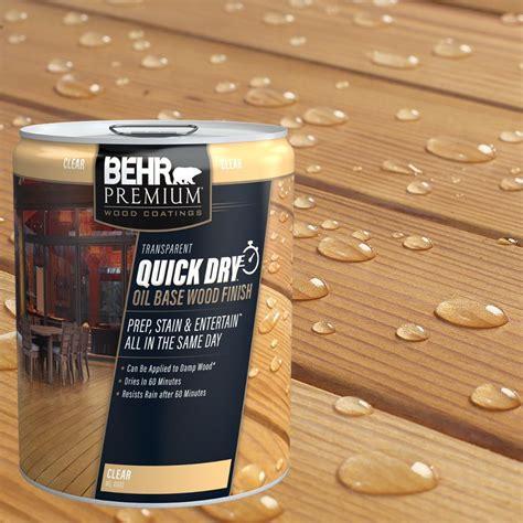 behr premium  gal transparent quick dry oil base wood