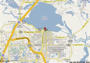 where is sanford florida on the map map of palms resort and marina sanford