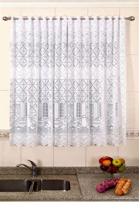 cortinas 1 50 x 2 20 cortina de renda copa e cozinha van dyk branco 2