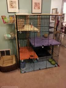 Cages For Rabbits Another Awesome Rabbit Cage Storage Cubes Zip Ties Pvc