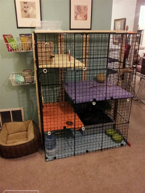 Rabbit Cage Shelf by Another Awesome Rabbit Cage Storage Cubes Zip Ties Pvc