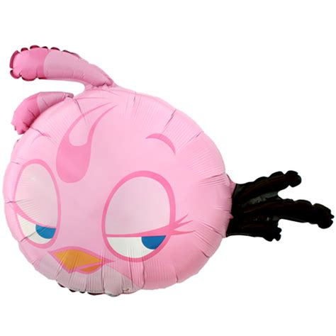 Pink Foil Balloon L angry birds pink supershape foil mylar balloon 1ct