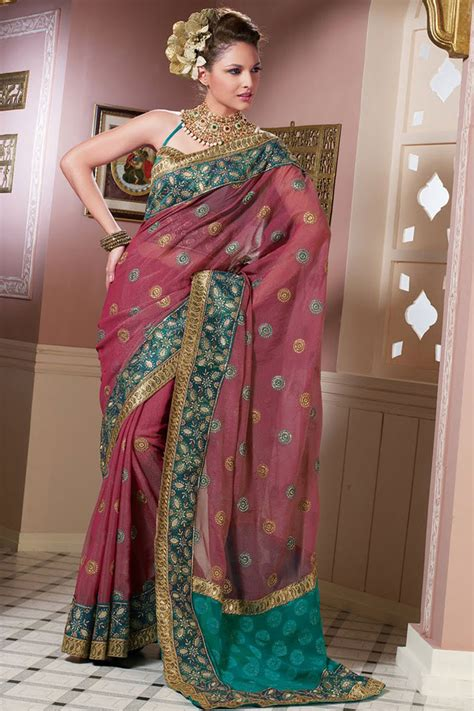 designer sarees latest designs latest deep pink saree designs designer indian outfits