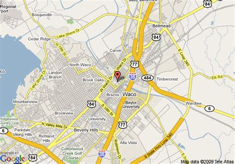 where is waco texas on the map map of courtyard by marriott waco waco