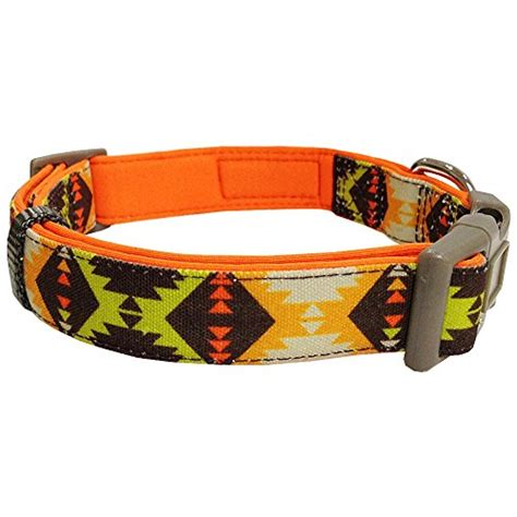 triangle pattern dog collar blueberry pet soft comfortable vintage triangle tribal