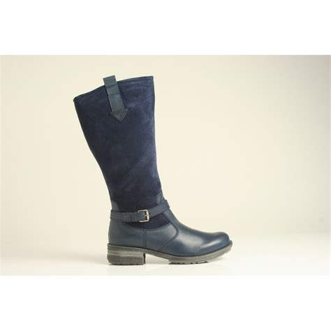 blue leather boots josef seibel 06 boot in navy blue leather and