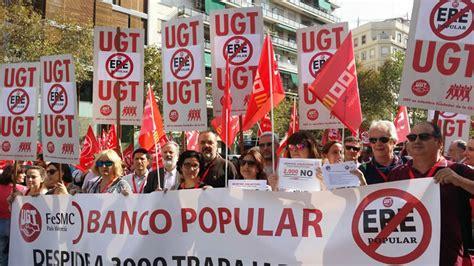 banco popular valencia movilizaciones en la comunitat valenciana contra el ere
