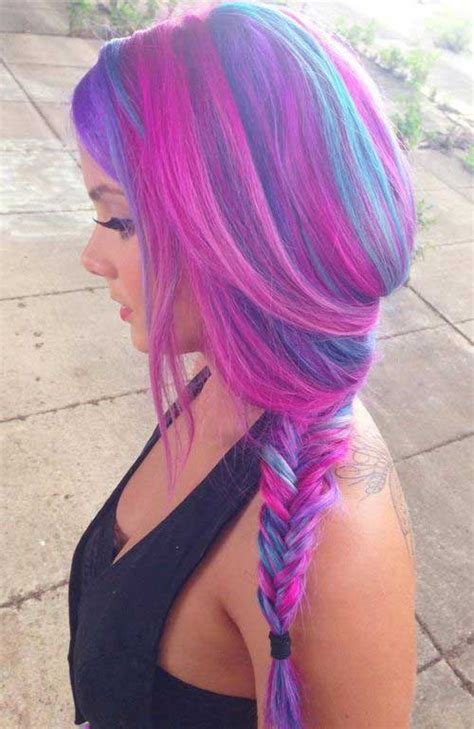 pictures of blue hair braided into brown hair 15 funky long haircuts hairstyles haircuts 2016 2017