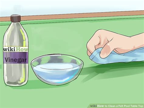 how to clean pool table felt 3 ways to clean a felt pool table top wikihow