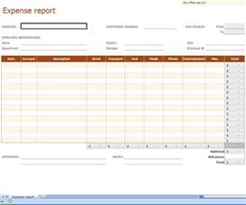 Detailed Expense Report Template by Detailed Expense Report Template Selimtd