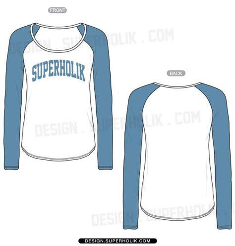 T Shirt Design Sketches by Raglan Template Vector Template Flat Sketch