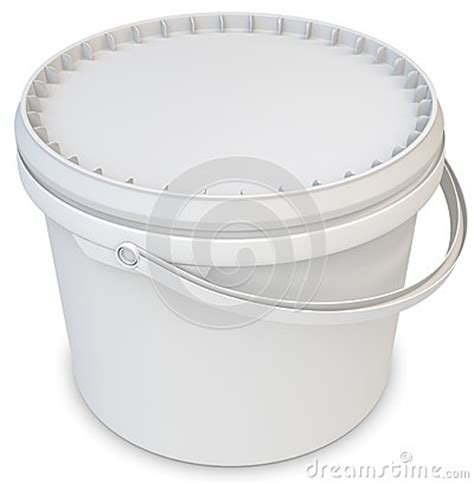 white bathtub paint 3d blank white tub paint plastic bucket container stock illustration image 39375420