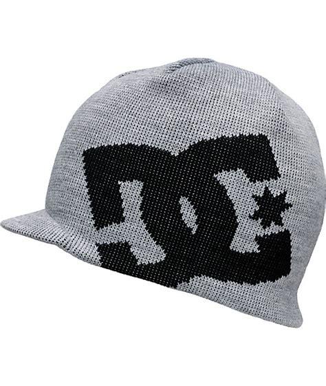 Beanie Dc Big Grey Original dc big grey black visor beanie zumiez