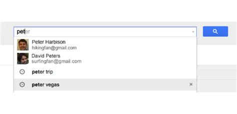 Gmail Email Search History Gmail Autocomplete Updated With Search History And Contact Thumbnails