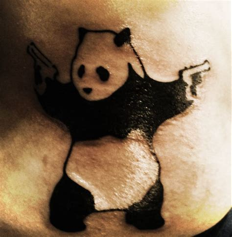 panda music tattoo 15 best images about banksy sleeve on pinterest deep