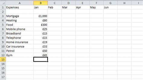 moneyawarecouk money saving blog budgeting articles how to budget your money in excel pc advisor