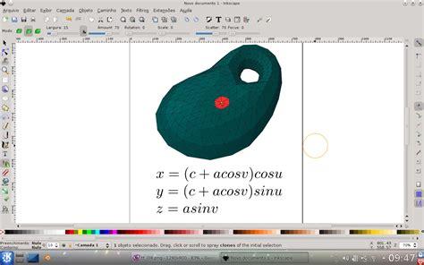 tutorial inkscape vetorização p 233 de pinico modelos tridimensionais no inkscape 2