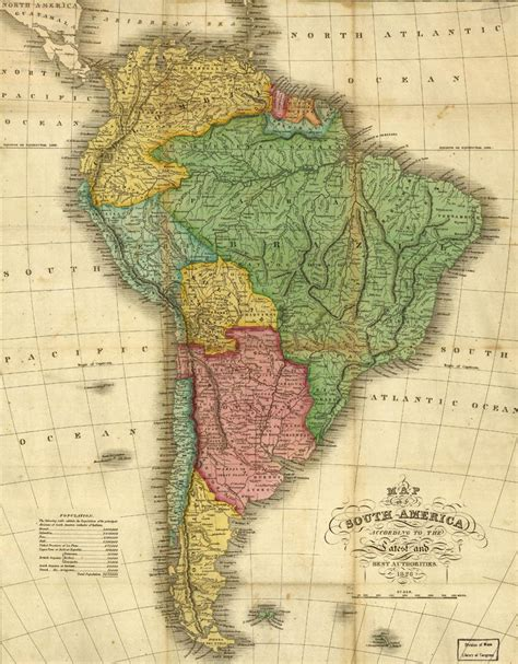 america map in 1800 maps of south america