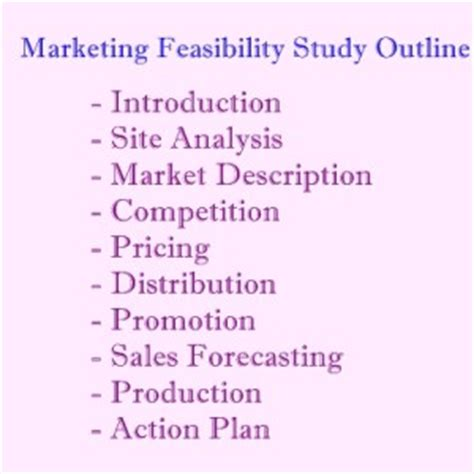 Restaurant Feasibility Study Template market feasibility study outline guidelines