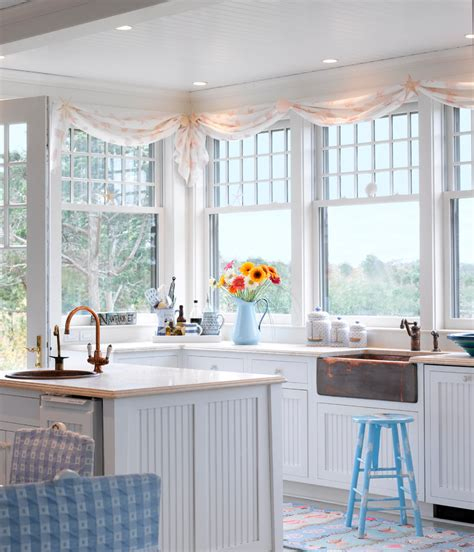 beach cottage curtains amazing kitchen window valance decorating ideas gallery in