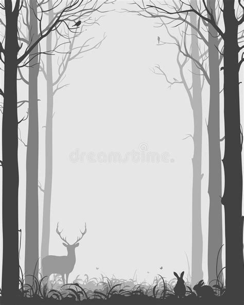 trees silhouettes stock illustration image of color 43384093 background with silhouettes of trees and animals black stock vector illustration of
